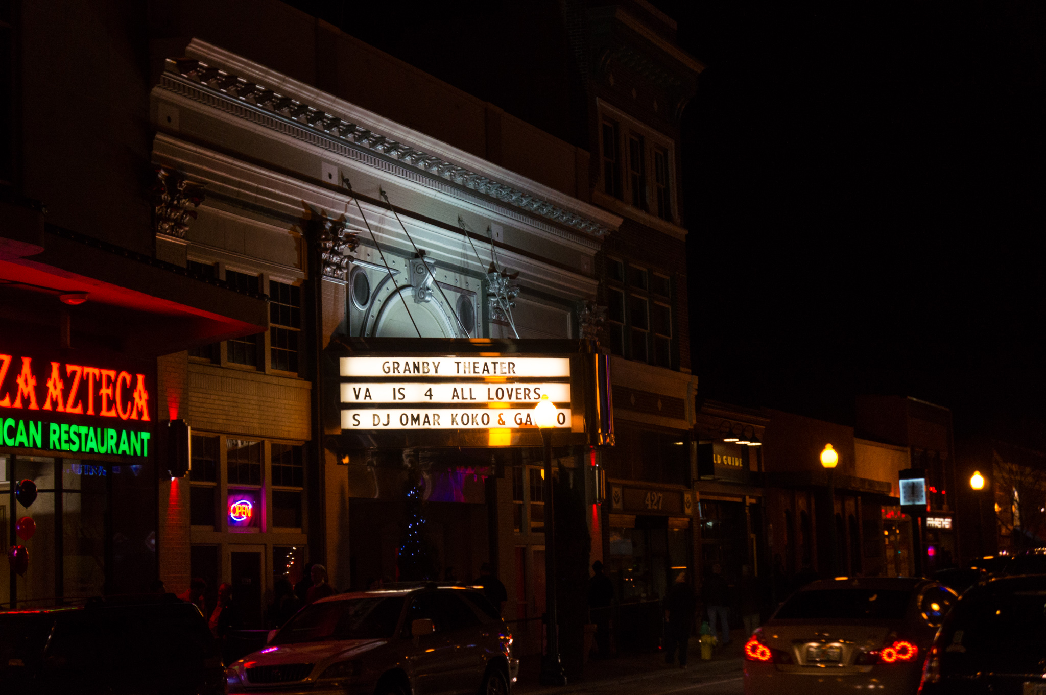 Granby Theater, Downtown Norfolk, VA, February 14, 2014